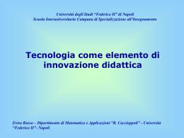 1.0 Relazione: Tecnologia come elemento di innovazione didattica