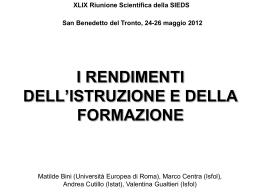 Centra_Gualtieri_Rendimenti istruzione e formazione