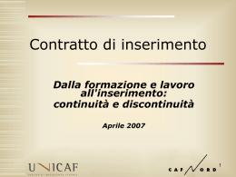 Contratto inserimento - Confcooperative Firenze