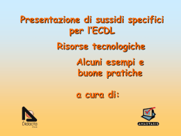Slides - ICT E DISABILITÀ