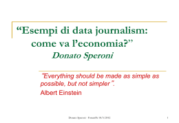Keynote speech - Donato Speroni
