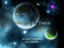 Galileo e la fisica