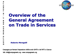 Overview of the General Agreement on Trade in