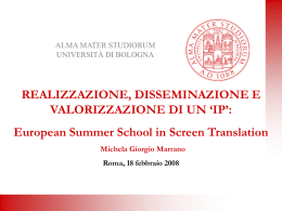 European Summer School in Screen Translation