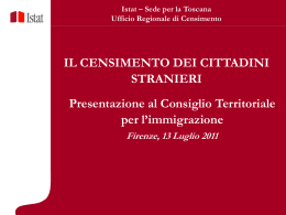 Le Slide della presentazione - Pubblica Amministrazione e Stranieri