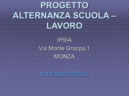Il progetto Alternanza Scuola-Lavoro dell`IPSIA di Monza