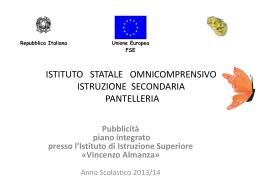 Istituto Almanza di Pantelleria Presentazione pubblicità PON