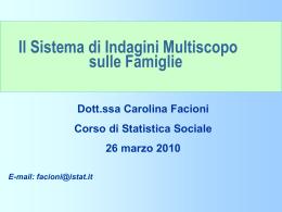 Il sistema di Indagini Multiscopo sulle Famiglie