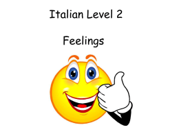 Italian Level 2 Feelings