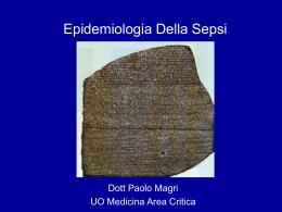 Eepidemiologia e clinica della sepsi