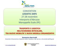 Trasporto e logistica nell`economia reticolare - Barricelli