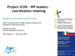 Feedback Forum Gorizia, 30/11/2010