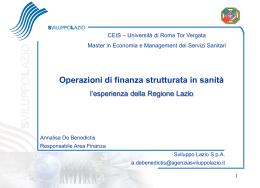 strumento finanziario presente nella Regione Lazio