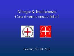Allergie, Intolleranze e Celiachia