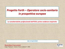 Franceschetti _Operatore socio sanitario_Progetto Forth