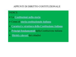 Cenni di Diritto Costituzionale
