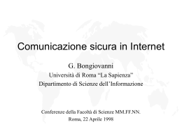 Internet e comunicazione sicura