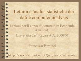 Scarica presentazione originale - Università Ca` Foscari di Venezia