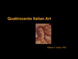 Quattrocento Italian Art Part 1