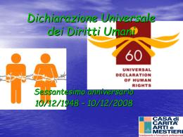 Dichiarazione universale casa carità