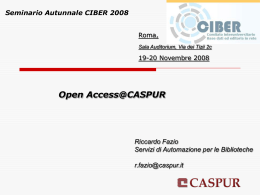 Open Access@CASPUR