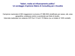 Italiani, media ed influenzamento politico( 180 kb)