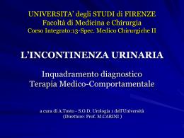 l`incontinenza urinaria