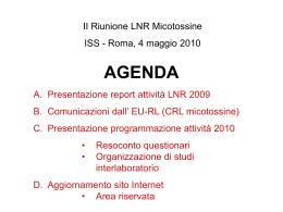 C. Presentazione programmazione attività 2010