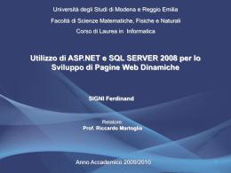 Presentazione - ISGroup - Università degli studi di Modena e