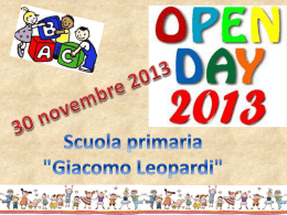 Open Day sc. Primaria Leopardi
