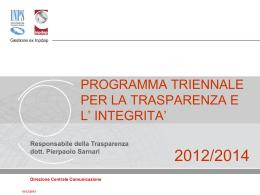 PresentazioneProgrammaTrasparenza_2012-2014