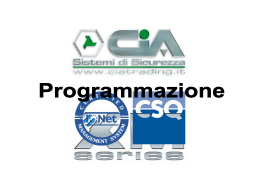 Presentazione programmazione v1.0
