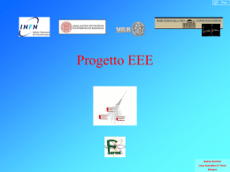 Relazione sul Progetto EEE a Torino