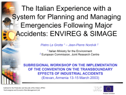 The Italian Experience with a System for Planning and