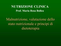 La malnutrizione: diagnosi e trattamento a domicilio