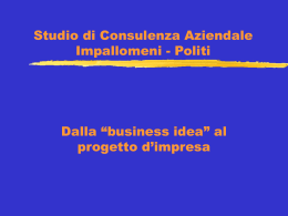 Primo seminario sul business plan