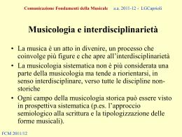 Comunicazione Fondamenti della Musicale