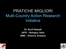 PRATICHE MIGLIORI Multi-Country Action Research Initiative