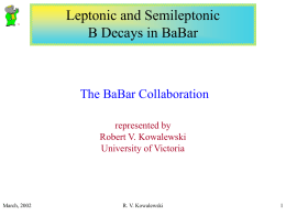 Semi-leptonic and leptonic B decays in BABAR