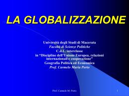 GLOBALIZZAZIONE - Università degli Studi di Macerata