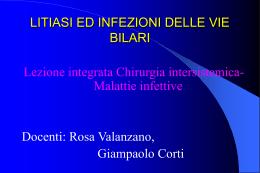 litiasi ed infezioni delle vie bilari - E