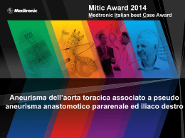 Mitic Award 2012 Medtronic Italian besT Case Award