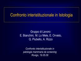 E. Bianchini, M. Lo Mele, E. Orvieto, Q. Piubello, A. Rizzo