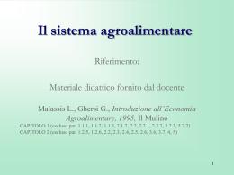 """Leggi del consumo alimentare nel """"modello agroindustriale"""""""