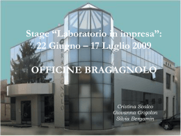 "Stage ""Laboratorio in impresa"""