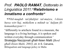 Prof. PAOLO RAMAT, corso IUSS 2010