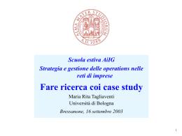 I case study qualitativi