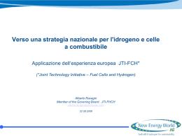 Verso una strategia nazionale per l`idrogeno e celle a
