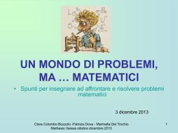 mathesis 3 dicembre 2013 - ISTITUTO COMPRENSIVO di