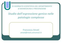 Presentazione prof.ssa Amati